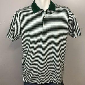Peter Millar Green White Golf Shirt Large Polo L